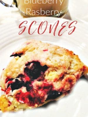Blueberry Raspberry Scones