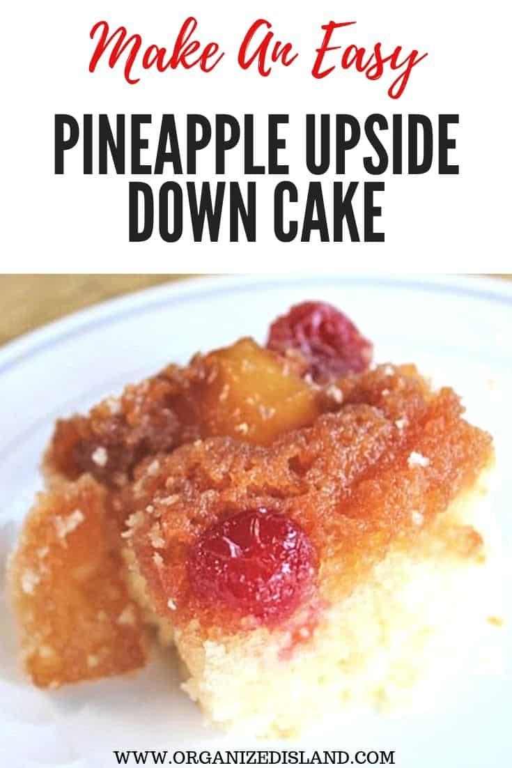 Pineapple Upside Down Cake Easy Recipe