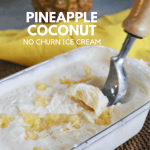 Pineapple and coconut ice cream