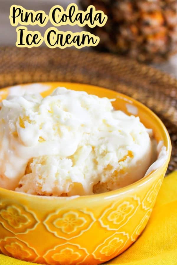 Pina Colada Ice Cream