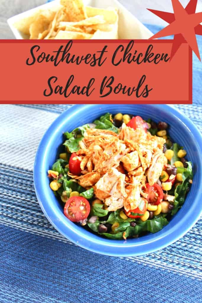 chipotle chicken salad in bowl
