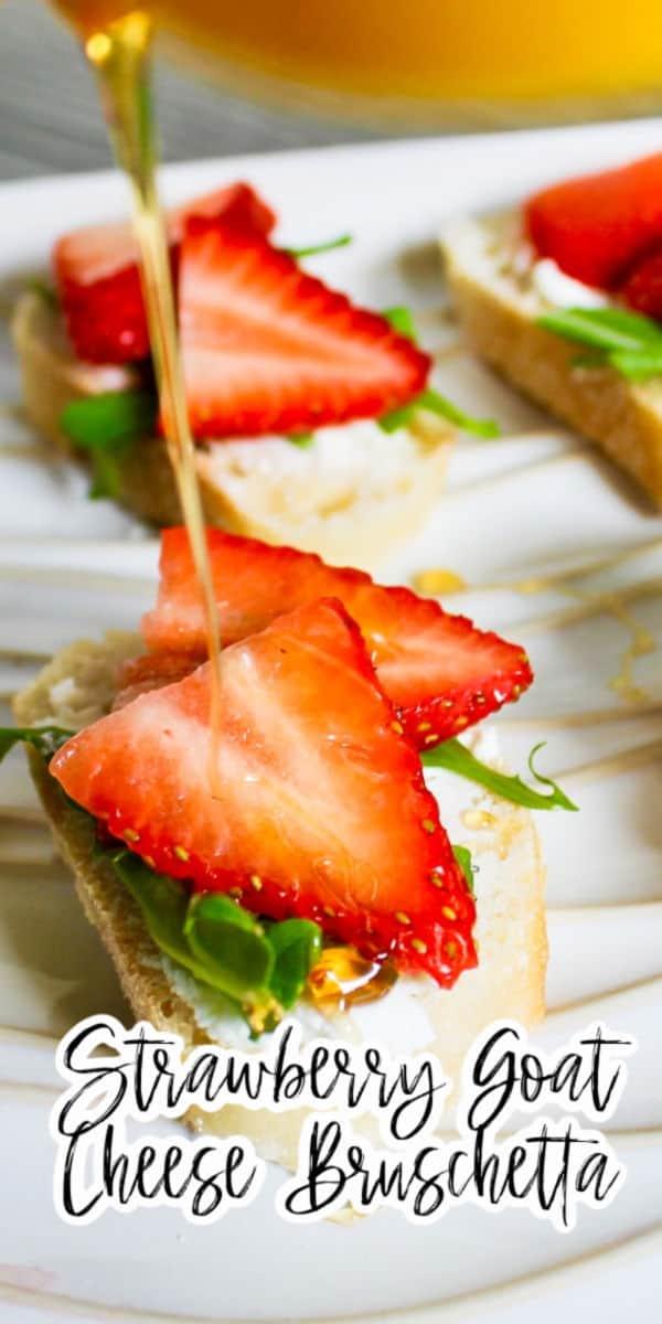 Strawberry Goat Cheese Bruschetta Recipe