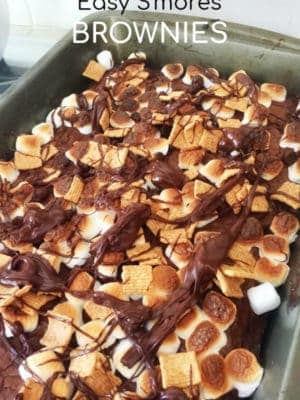 Smores brownies from a mix