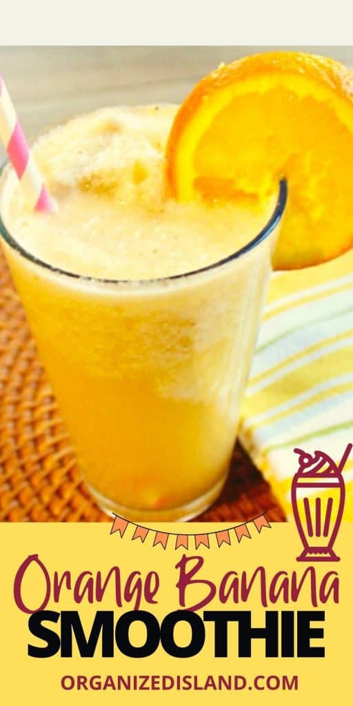 Orange Banana Smoothie without yogurt