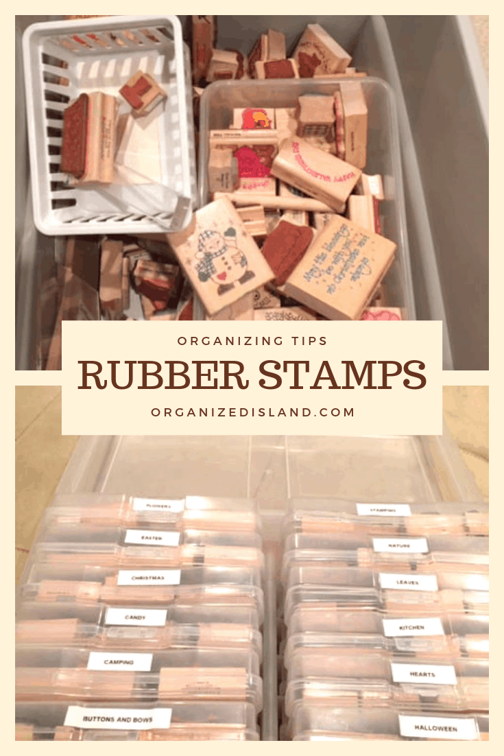 How to Organize Rubber Stamps