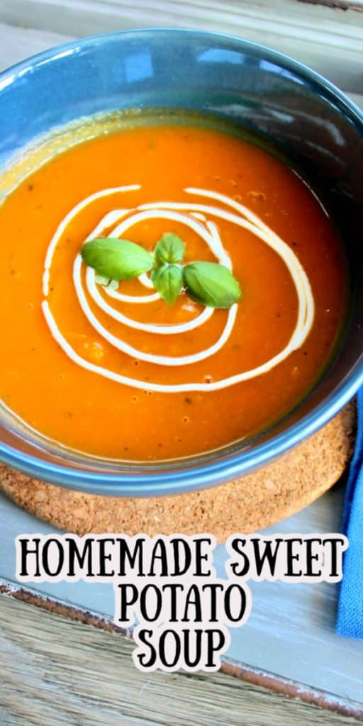 Homemade Sweet potato soup