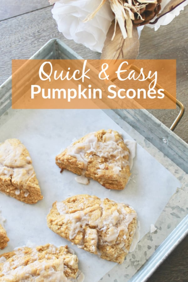 Easy Pumpkin Scones with Icing
