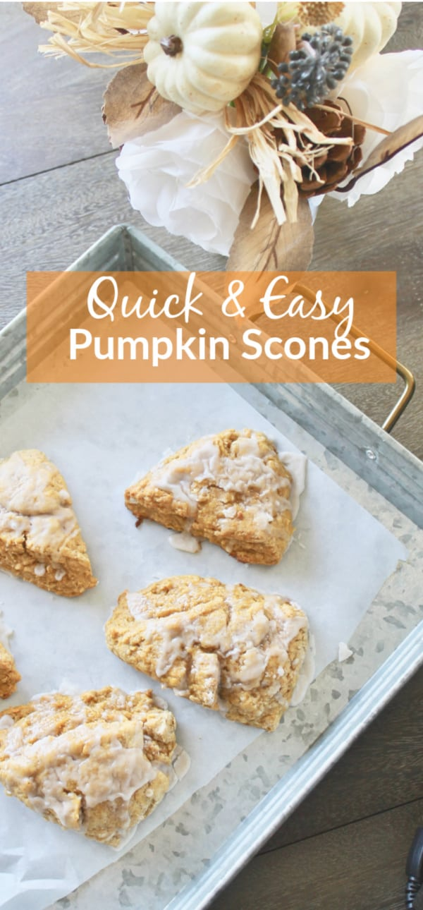 Easy Pumpkin Scones with Icing