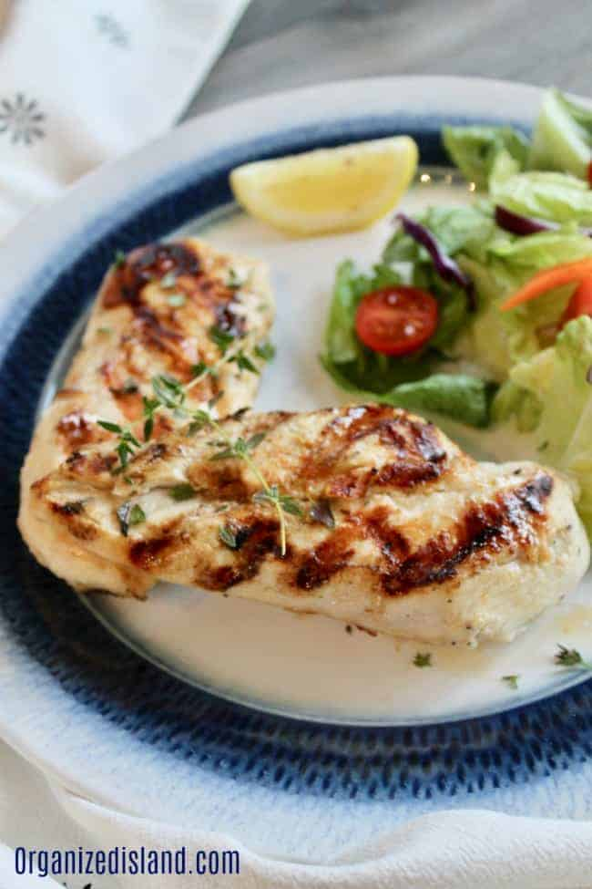 Grilled Lemon Chicken with Thyme with fresh Thyme