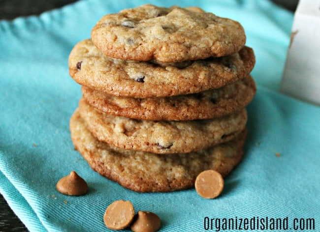 chocolate chip with peanut butter cookies
