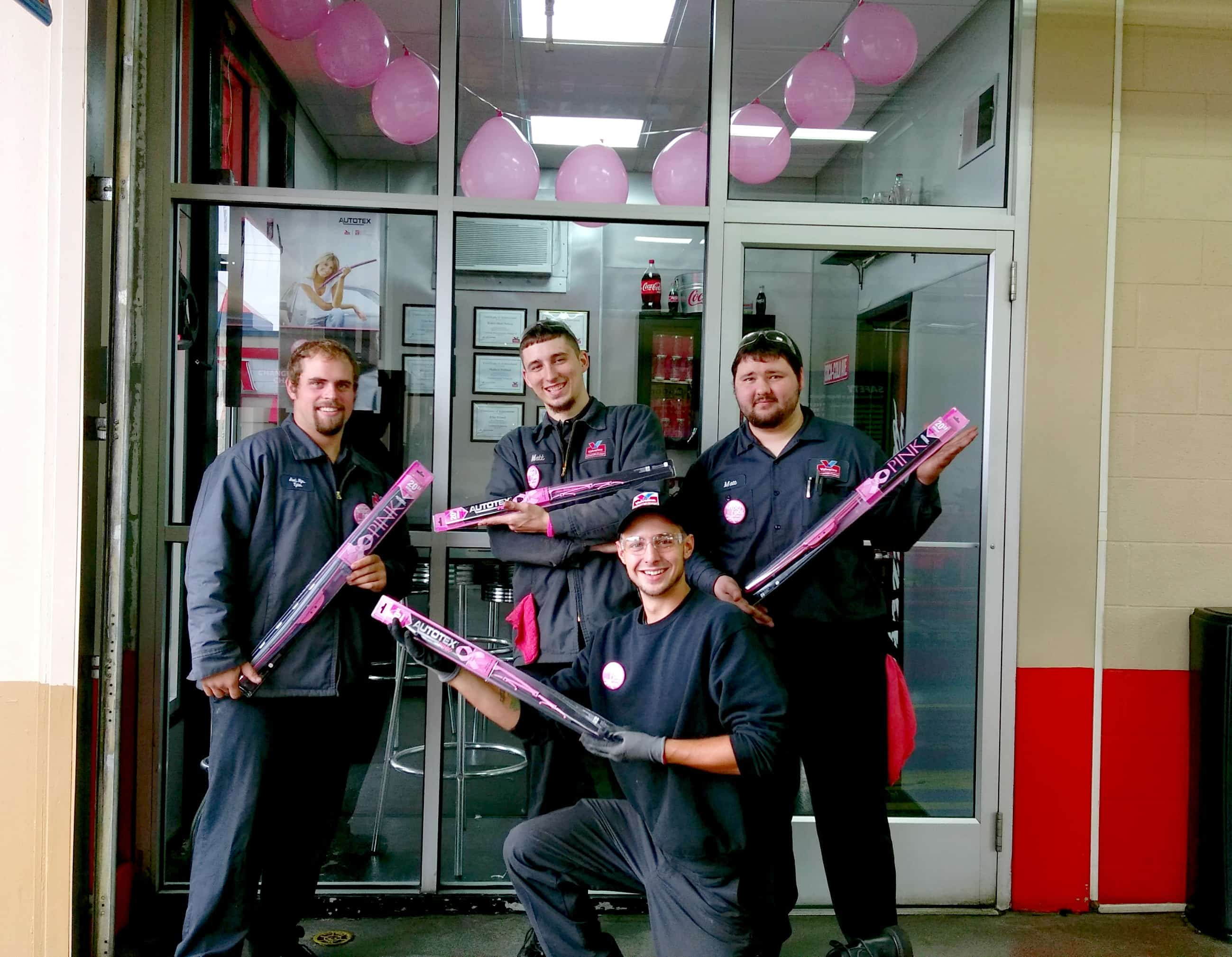 pink wiper blades for breast cancer