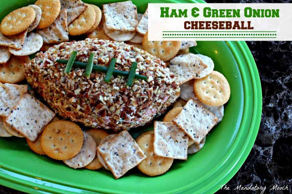 Ham & Green Onion Cheeseball | 20 Easy & Delicious Game Day Recipes | Organized Island