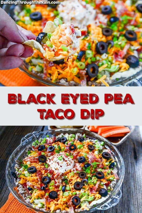 Black Eyed Pea Taco Dip | 20 Easy & Delicious Game Day Recipes | Organized Island