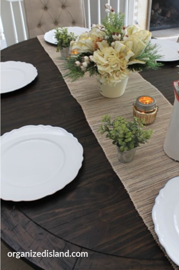 Farmhouse Table Runner and plates