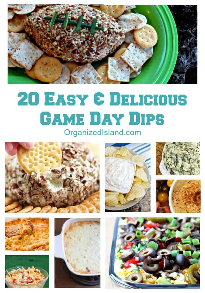 20 Easy & Delicious Game Day Recipes | Organized Island