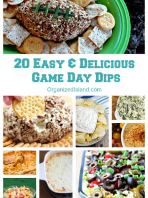 20 Easy & Delicious Dip Recipes for Game Day | Organized Island