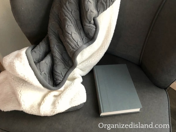 cozy blanket and book