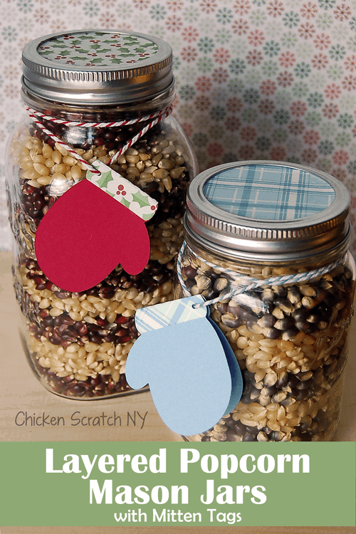 16 Simple and Savory Christmas Gift Ideas | Layered Popcorn Gift Jars | Chicken Scratch NY