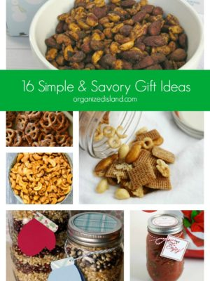 16 Simple & Savory Gift Ideas organizedisland.com