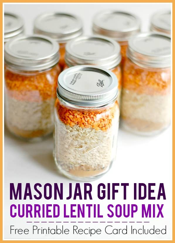16 Simple and Savory Christmas Gift Ideas | Curried Lentil Soup Mix | Happy Deal Happy Day