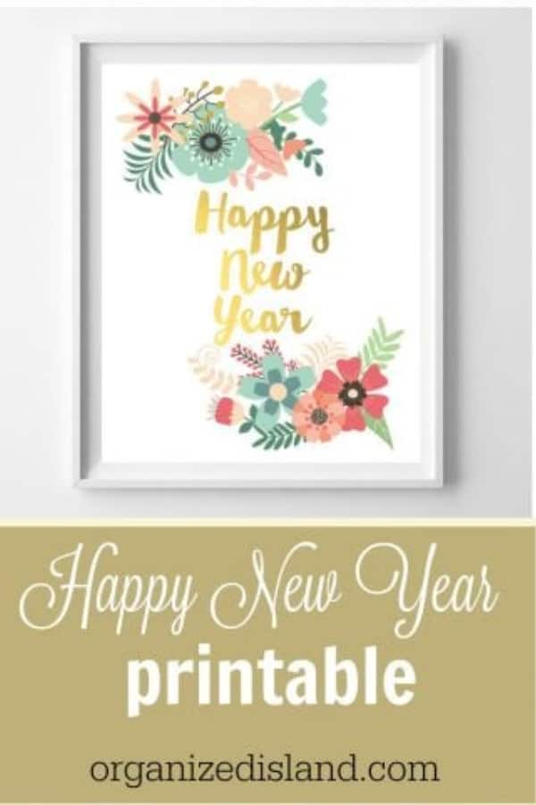 picture relating to Happy New Year Printable identified as Joyful Refreshing Calendar year Printable -