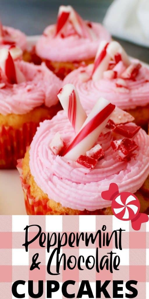 Peppermint White Chocolate Cupcakes