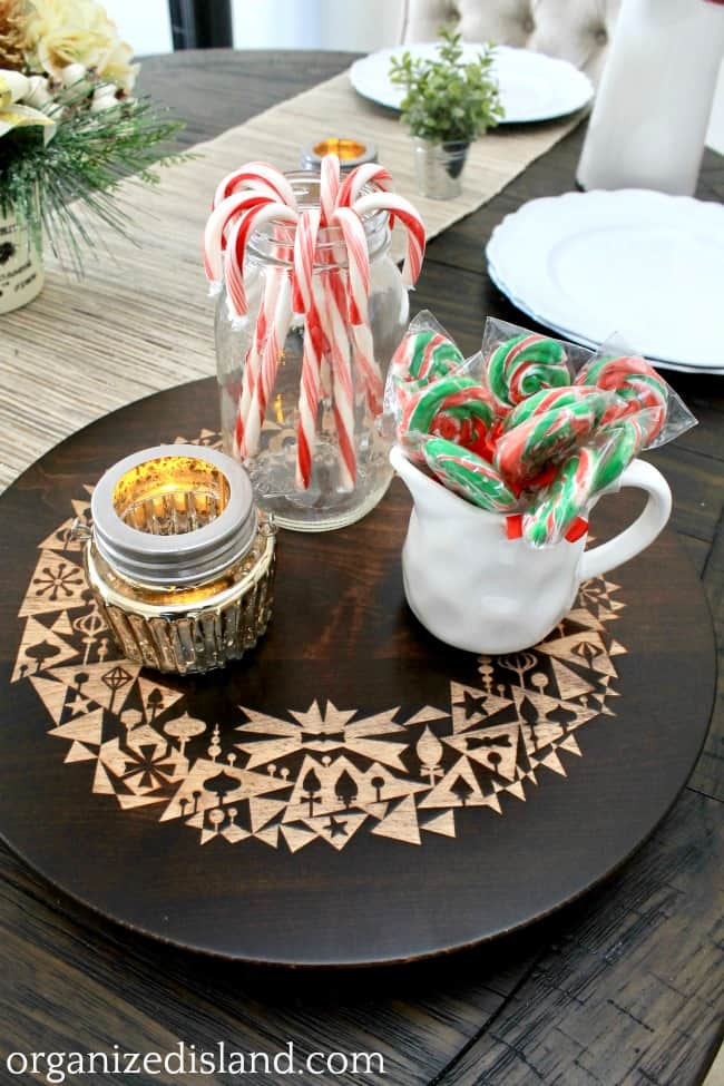 holiday candies in jars