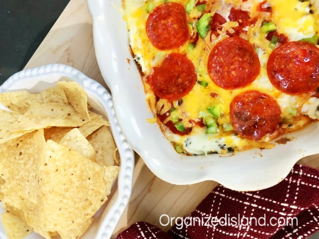 Hot Pizza Dip with Pepperoni