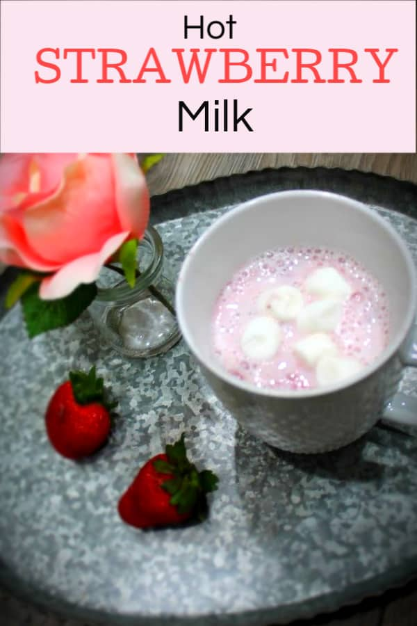 Strawberry hot milk