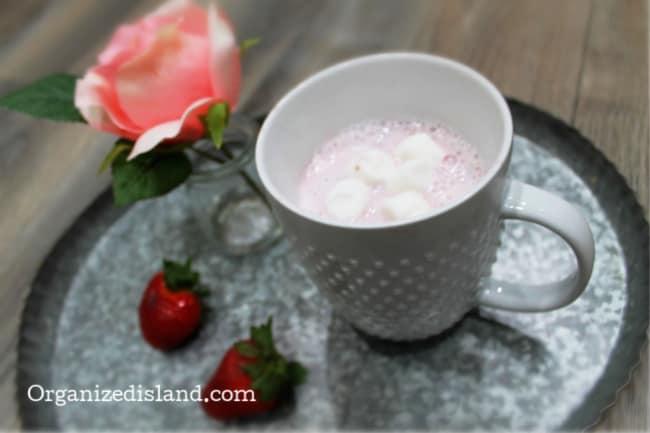 Pink milk hot