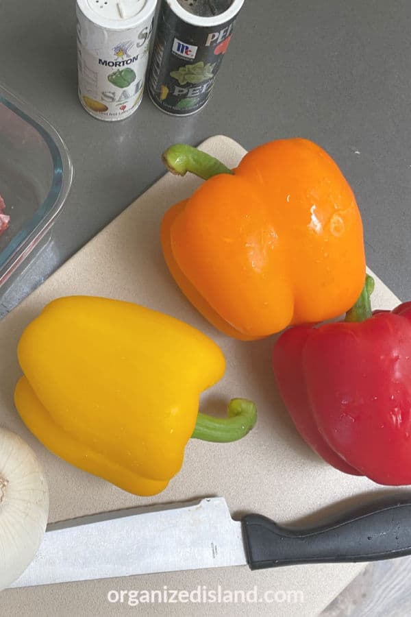 Tri color bell peppers