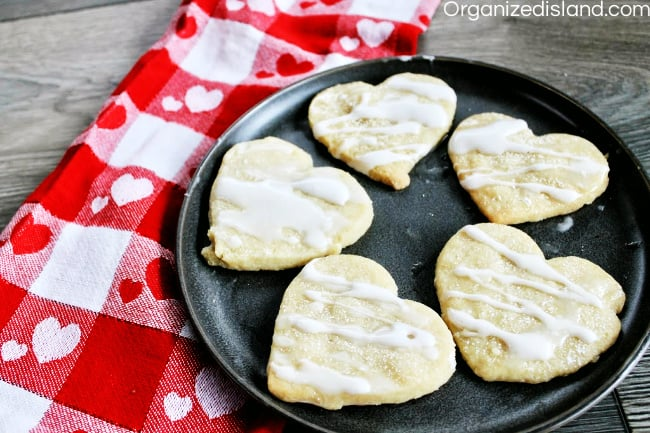Shortbread cookies heart-shaped