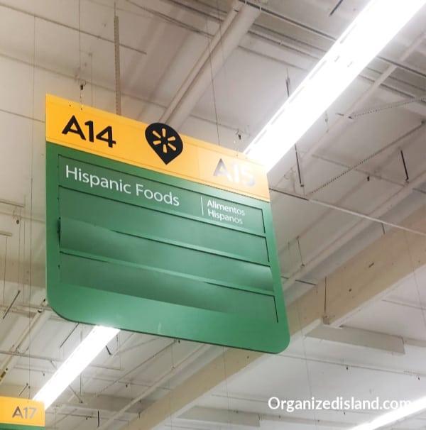 Hispanic foods aisle