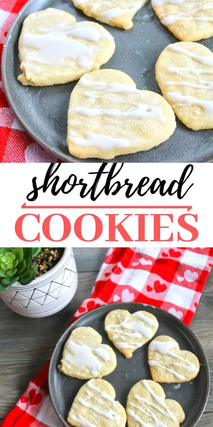 Shortbread heart cookies
