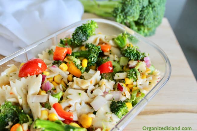 Broccoli Salad with Pasta summer to fall recipes