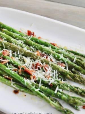 Bacon parmesan asparagus
