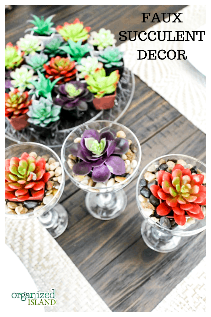 Faux Succulent Decor