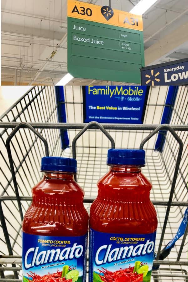 Juice in cart