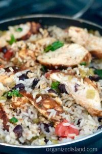 Chicken Rice Chili Skillet meal