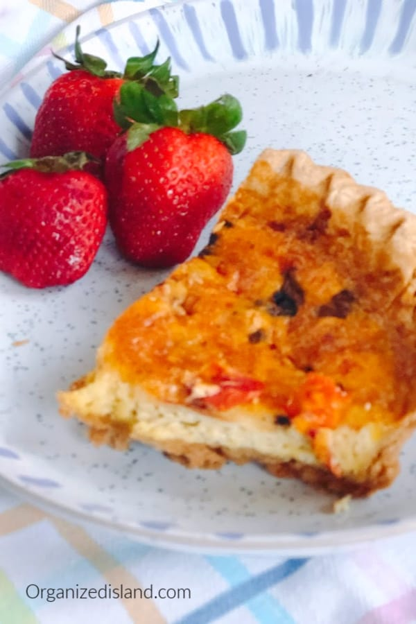 Quiche made with frozen pie crust