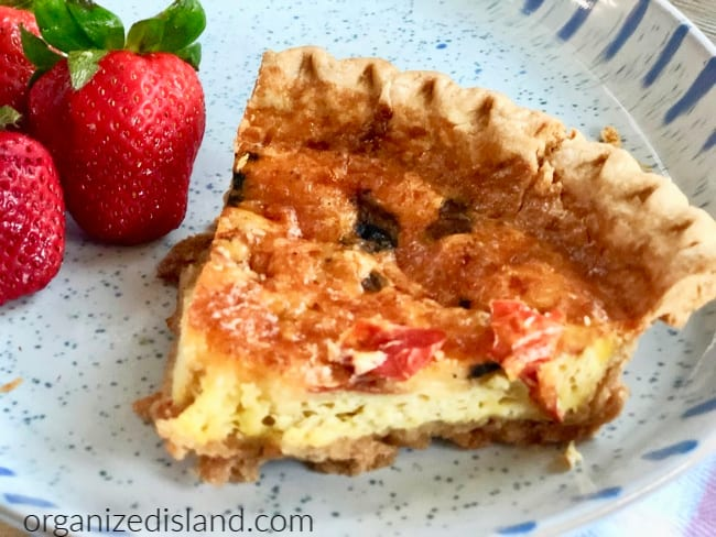 Quiche with Gouda