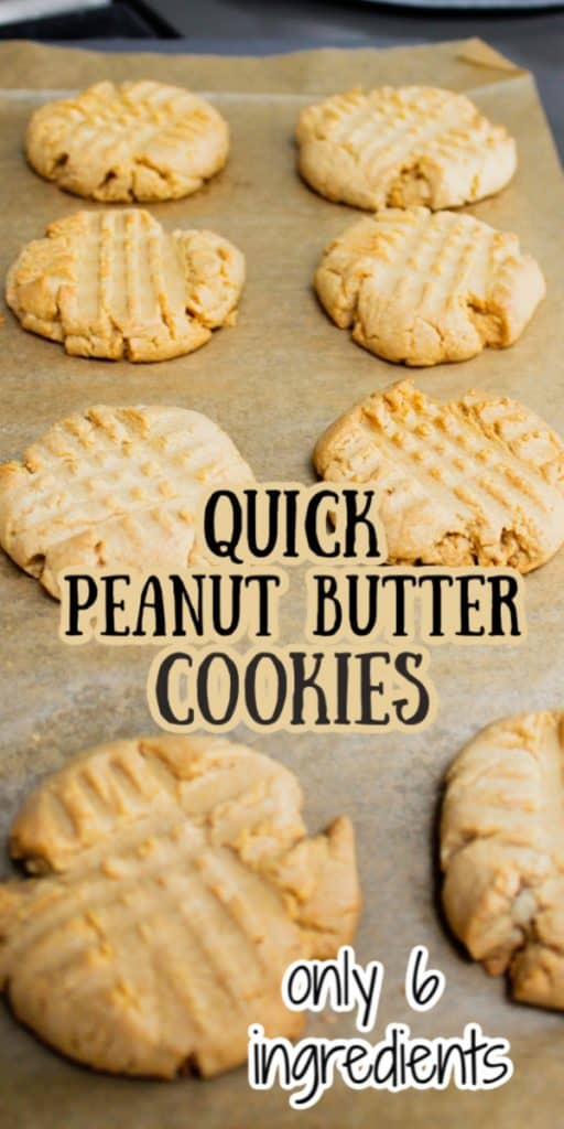 Quick Peanut Butter Cookies with Cake Mix