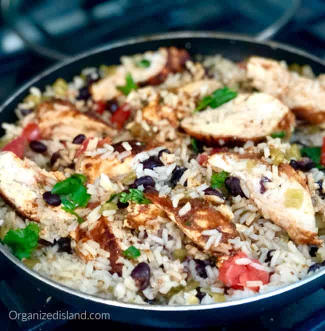 skillet chicken rice casserole