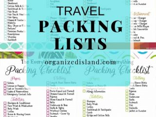 Travel packing lists to print
