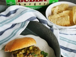 BUBBA Burger Veggie Burger with green chili