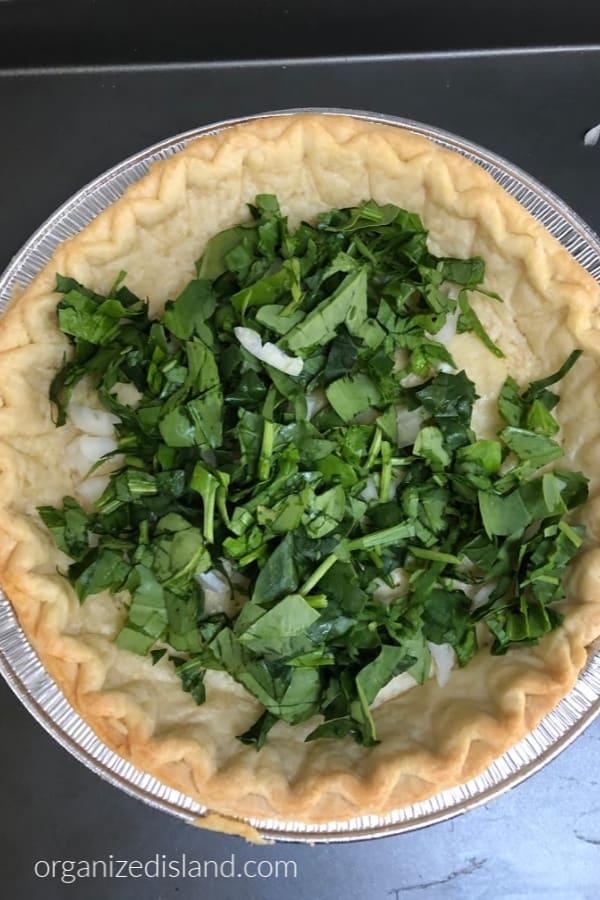 spinach in pie crust