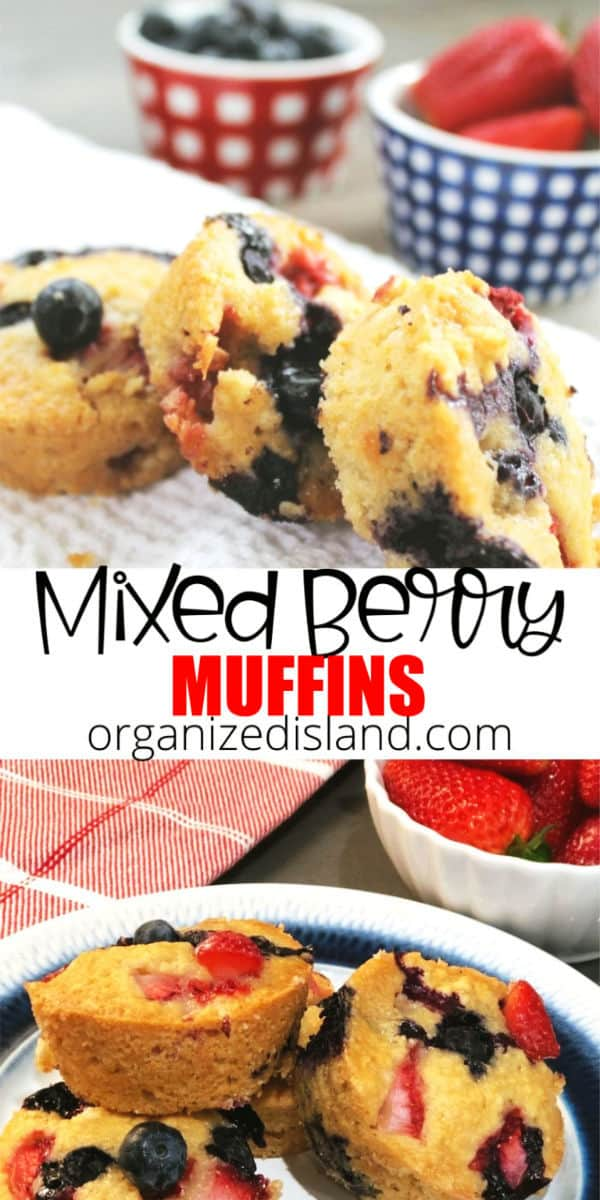Mixed Berry Muffins recipe