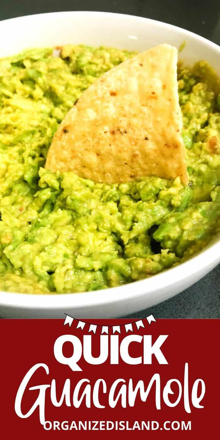 Quick Guacamole Recipe