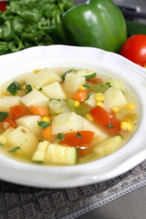 Vegetable soup recipe bouillon