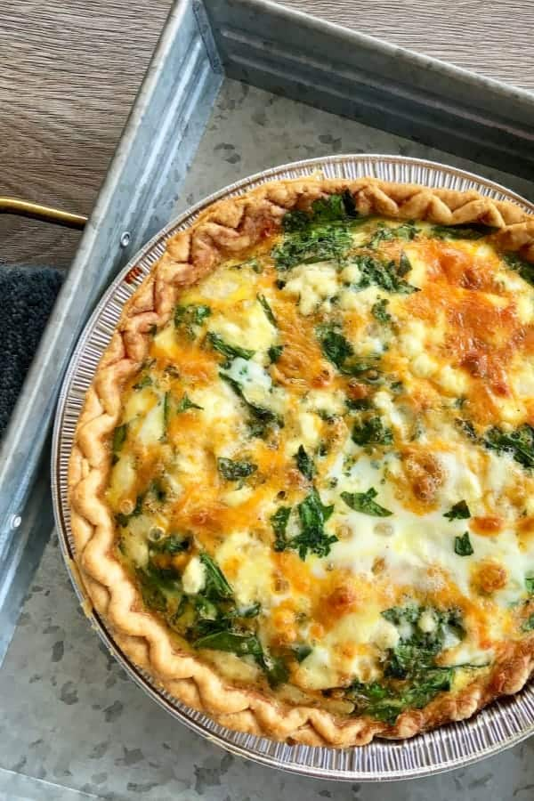 Spinach Feta Cheese Quiche Recipe